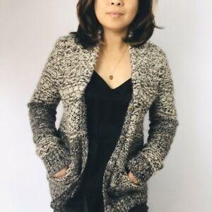 Aritzia Wilfred Free Alpaca zip cardigan sweater